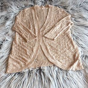 Oatmeal Open Stitch Cardigan